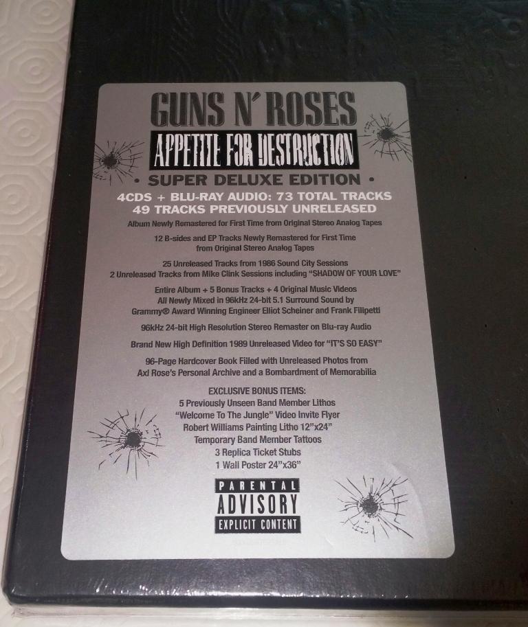 Appetite For Destruction Super Deluxe Edition − Netherland